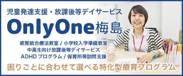 東京都で感覚統合療法に特化した放課後等デイサービスOnlyOne梅島